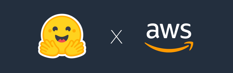 hugging-face-and-aws-logo